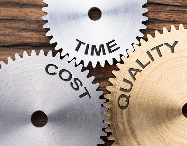 Time Cost Quality Gears
